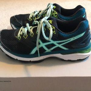 Women's ASICS GT-2000 6 Navy Teal Running Shoes